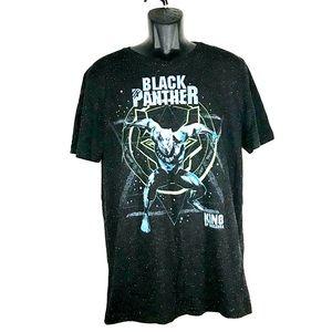 Marvel Men Crew-Neck Black Panter T-Shirt